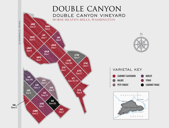 Map of Double Canyon Vineyard